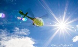 Into the sun....