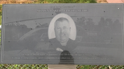 MedFlight 3's memorial to Shawn Baker.